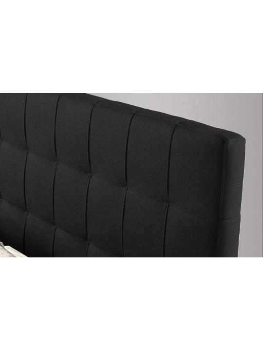 Pat Tapitat Rabatabil cu Lada Depozitare, 80x200 cm, Notturno Promo, Dolce Dormire, Textil Teflonat, Anti-Pete, Negru