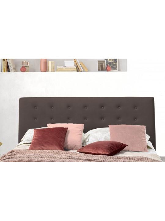 Pat Tapitat pentru Dormitor cu Lada, 80x200, AbraPromo Dolce Dormire, Catifea Velluto, Maro